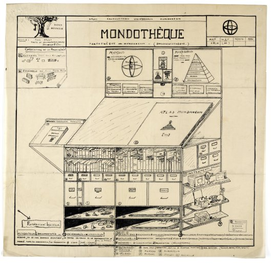 He also sketched the Mondothèque—a
