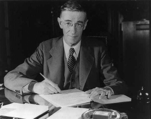 Vannevar Bush—hard at work, but also a talented self-publicist.